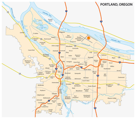 Portland Oregon Stock Illustrations Cliparts And Royalty Free - Portland oregon on us map