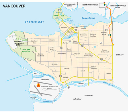 vancouver road and neghborhood map