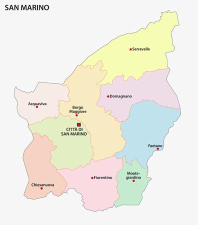 municipalities: San Marino administrative map