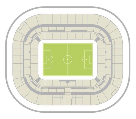 lyon: lyon stadium map Illustration