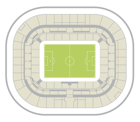 lyon stadium map Illustration