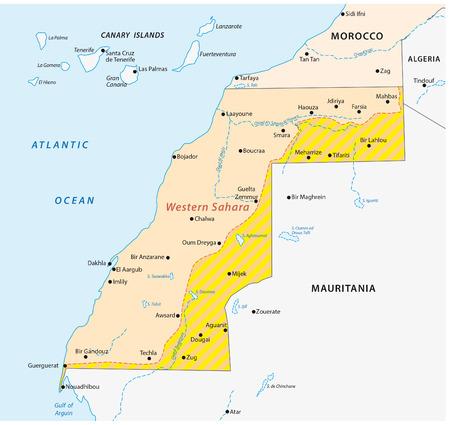 disputed: western sahara map