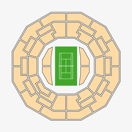 center court: wimbledon 2. center court plan Illustration