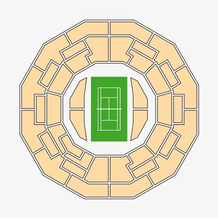 wimbledon: wimbledon 2. center court plan Illustration