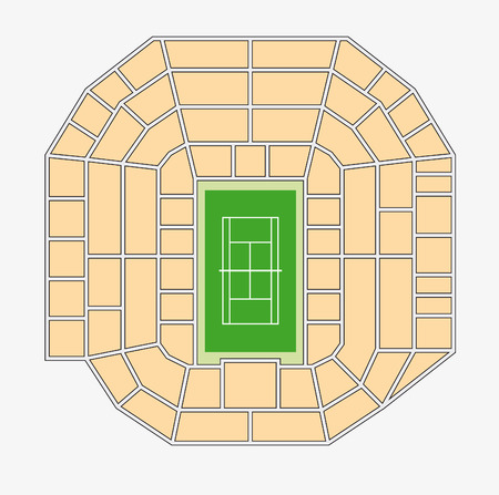 center court: wimbledon 1 center court plan Illustration