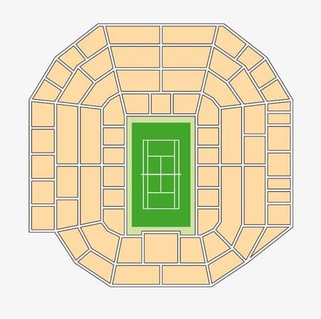 wimbledon: wimbledon 1 center court plan Illustration