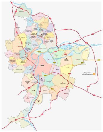 urbane: lyon metropolitan area map