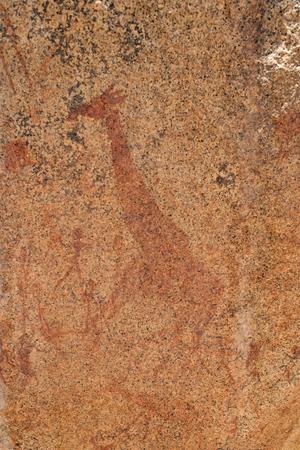 edad de piedra: grabados hist�ricos de la Edad de Piedra, Namibia, Foto de archivo