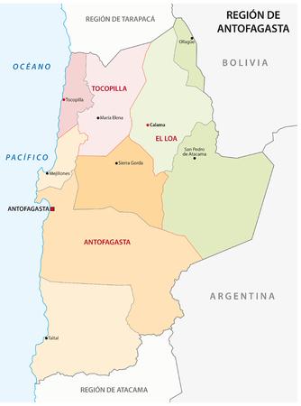 region: Antofagasta Chile Administrative Region Map