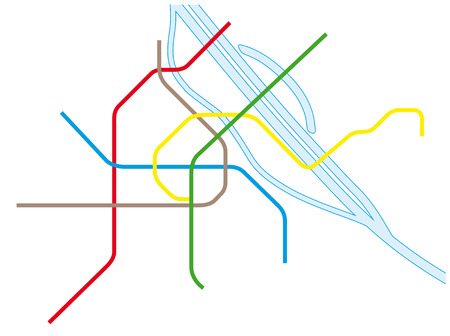 Vienna Uand SBahn Map Royalty Free Cliparts Vectors And Stock