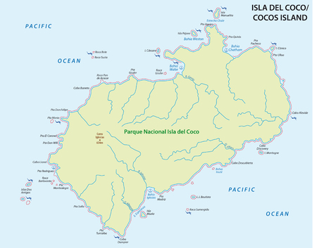 central park: cocos Iceland map, Costa Rica