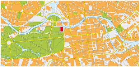 berlin city map Ilustrace