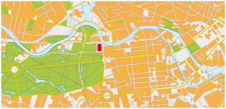 Berlino Mappa della città Archivio Fotografico - 54114581