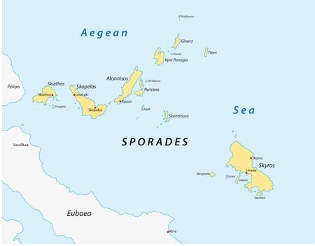 peninsula: map of the greek Iceland group sporades