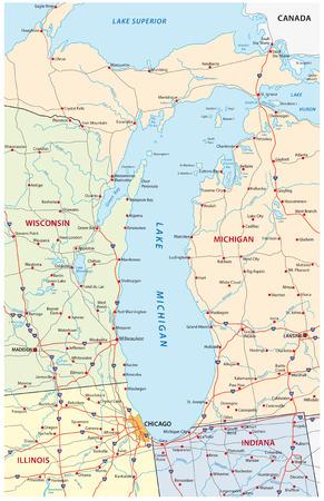 Lake Michigan kaart