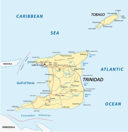 port of spain: trinidad and tobago road map