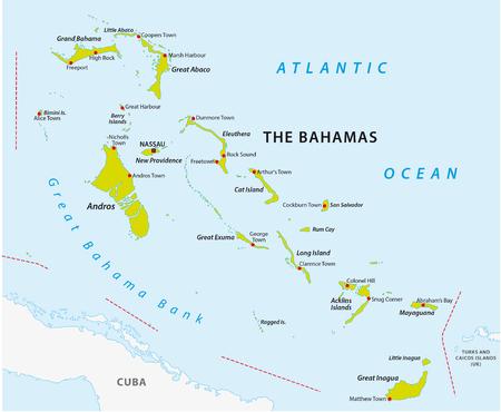 atlantic city: Bahamas map