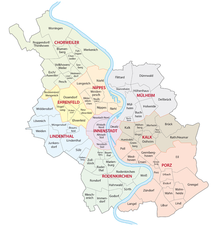Cologne administrative map