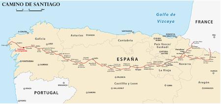 Camino de Santiago mapa