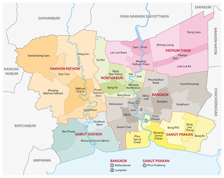 agglomeration: bangkok metropolitan region map