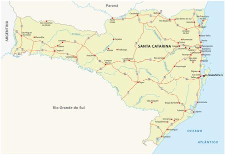 Santa Catarina road map