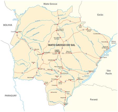 mapa de bolivia: Mato Grosso do Sul hoja de ruta