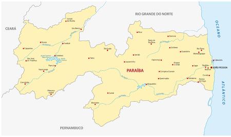 municipalities: paraiba map