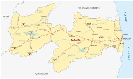 municipalities: paraiba road map