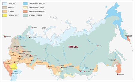tundra: vegetation map of russia