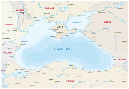 neighboring: map of the black sea with the Neighboring states Illustration