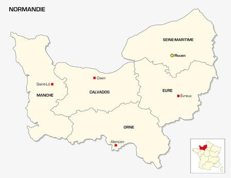 prefecture: New French administrative region Normandie