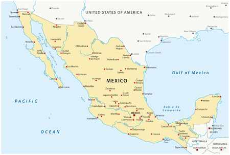 Mapa México Foto de archivo - 54115836