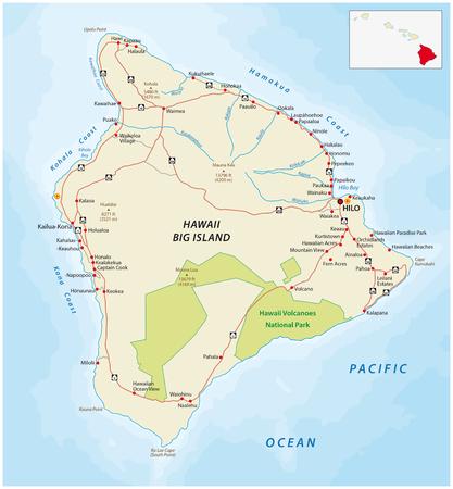 Big Iceland, hawaii, road map