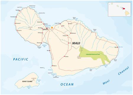 maui: maui and Kahoolawe road map