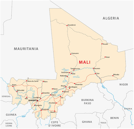 Mali Road Map Royalty Free Cliparts Vectors And Stock Illustration