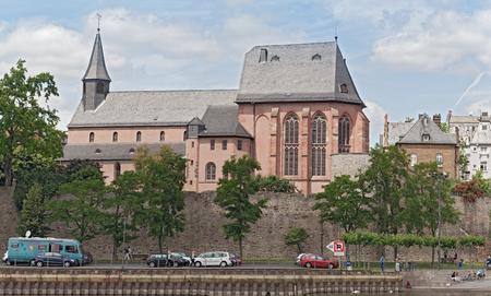 and saint: Saint Justins Church, Frankfurt-Hoechst, Germany