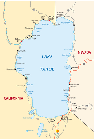 tahoe: Lake Tahoe map