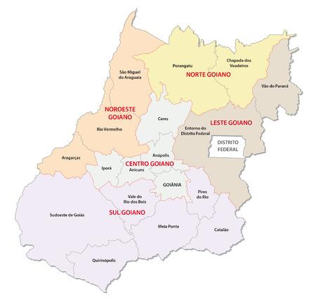 administrative: goias administrative map