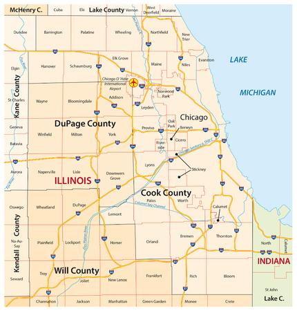 Greater Chicago kaart