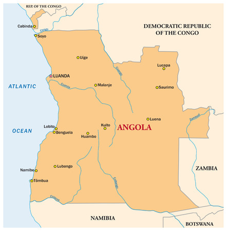 map of angola: simple vector map of the state of Angola