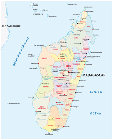 Madagascar administrative map
