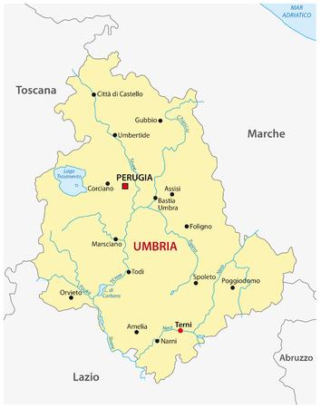 umbria: umbria map, Italy