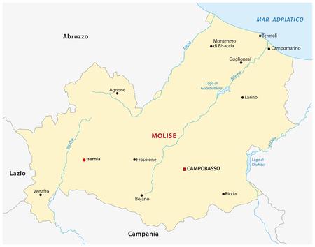 molise: molise map, Italy