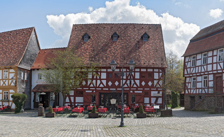 hesse: the marketplace in the open air museum Hessenpark, Neu Anspach, Germany Editorial