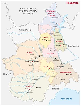 piedmont: piedmont administrative map