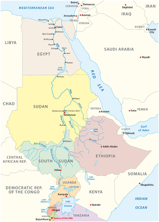nile river map Vectores