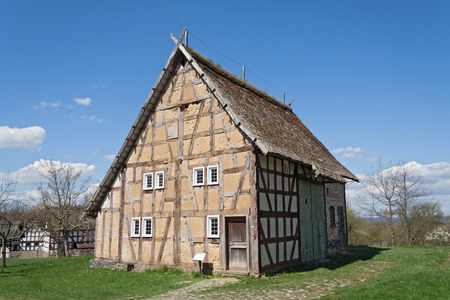 timbered: Old half timbered house at the Hessenpark Open-Air Museum
