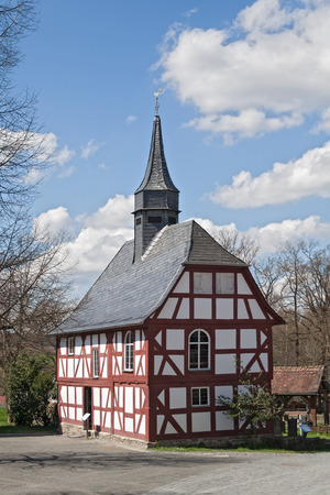 timbered: old timbered church at the Hessenpark Open-Air Museum
