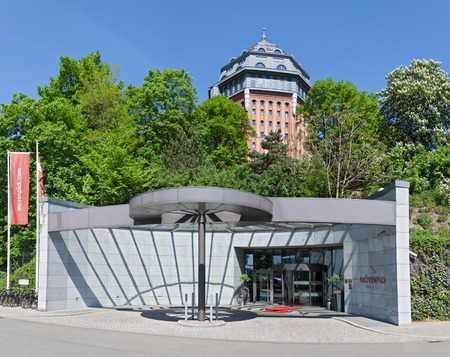 industry architecture: hotel in the former water tower in neige park, hamburg, germany Editorial