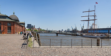 st pauli: panorama picture of the same norder in hamburg, germany